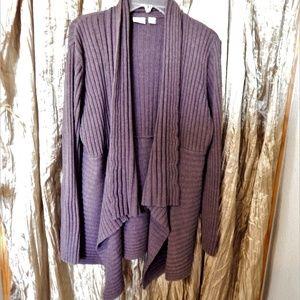 18/20 Brown Cozy Cardigan/Sweater